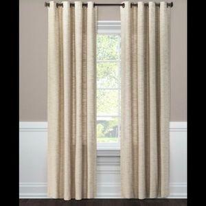 NWOT-Threshold 2 Diamond Weave Window Panels-Tan